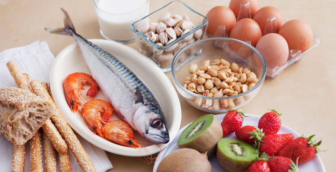 As alergias alimentares mais frequentes nas crianças