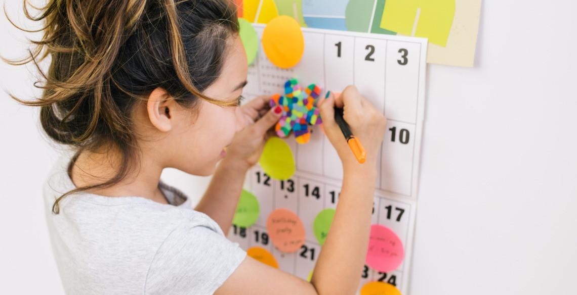 Ensinando administração do tempo para seu filho