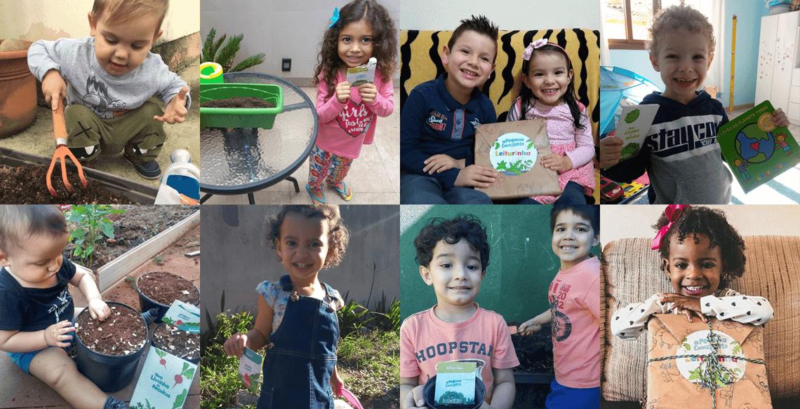 Pequeno Consciente: Confira fotos dos nossos pequenos leitores plantando suas hortinhas!