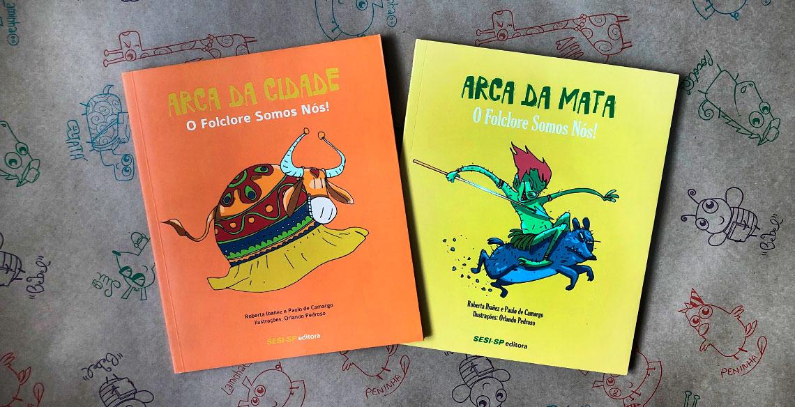 Coleção de livros sobre folclore brasileiro para crianças