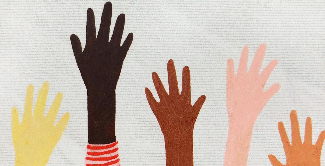 Capa da obra Um Lençol de Infinitos Fios, um livro infantojuvenil sobre solidariedade.