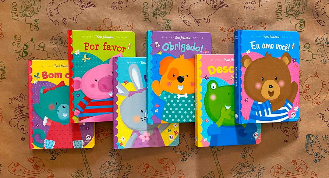 Uma coleção para ensinar as palavras mágicas para crianças