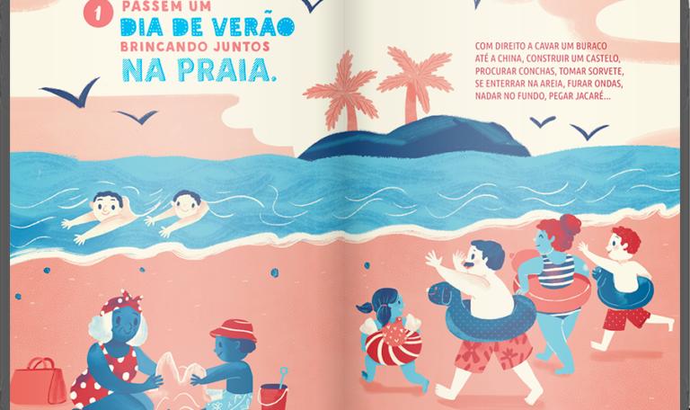 101 Coisas Para Fazer Com As Crianças Antes Que Elas Cresçam: um dia de verão na praia