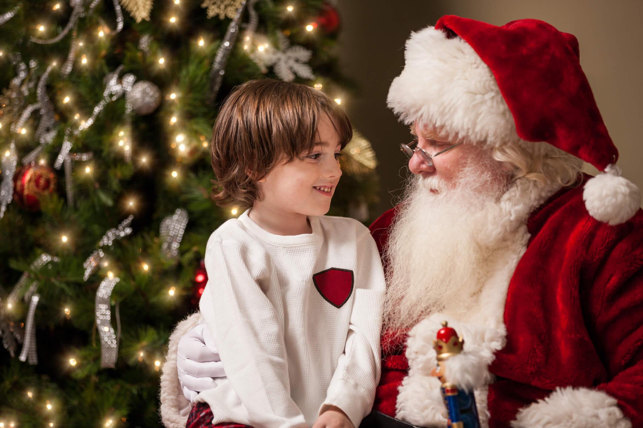 Como lidar quando a criança tem medo do Papai Noel?