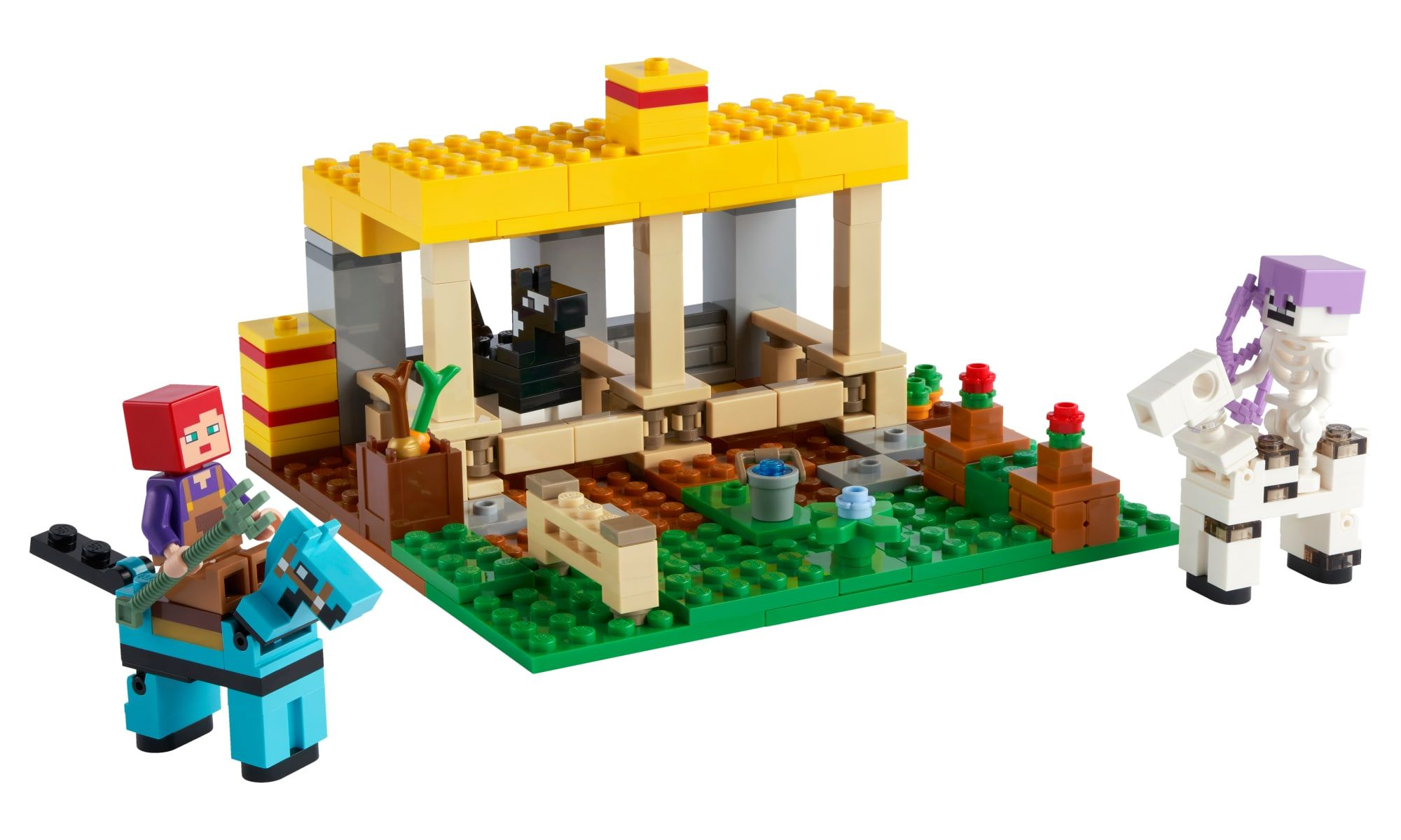 brinquedo-o-estabulo-de-cavalos-lego-minecraft